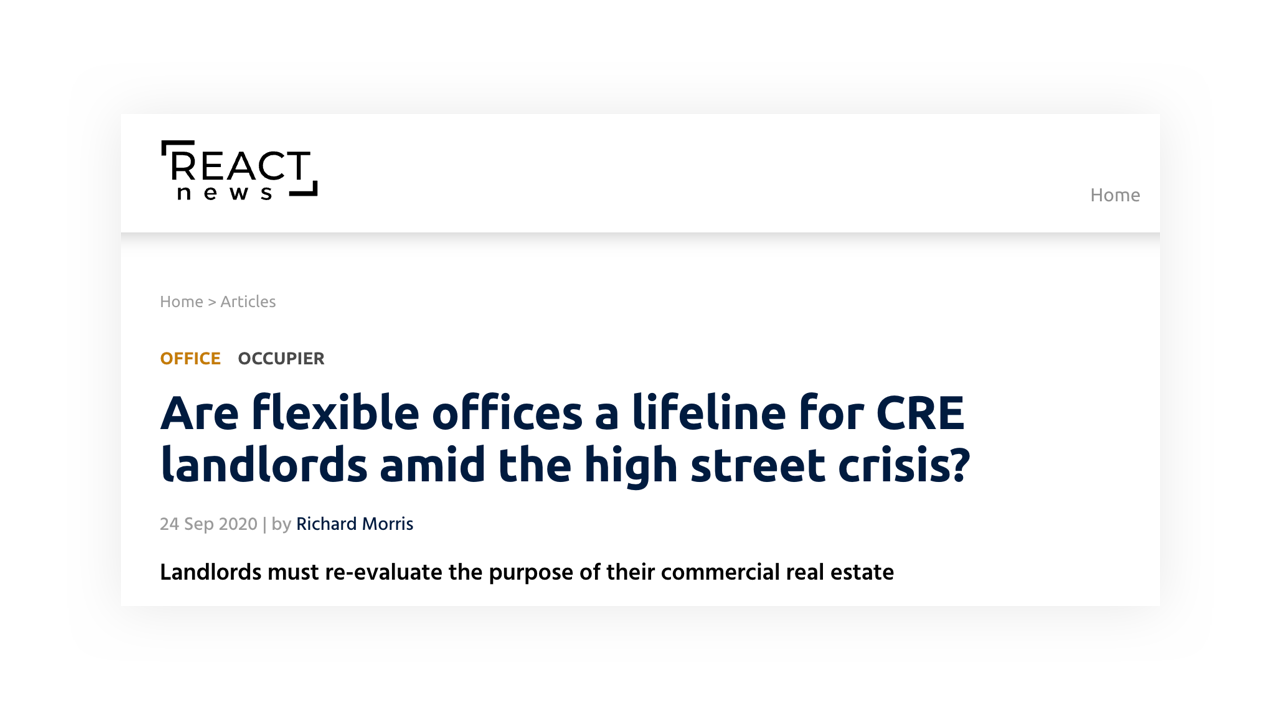 Are flexible offices a lifeline for CRE landlords amid the high street crisis?