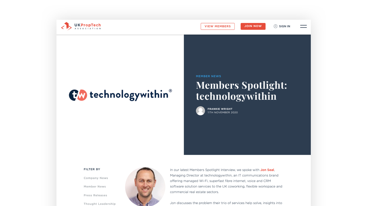 Members Spotlight: technologywithin